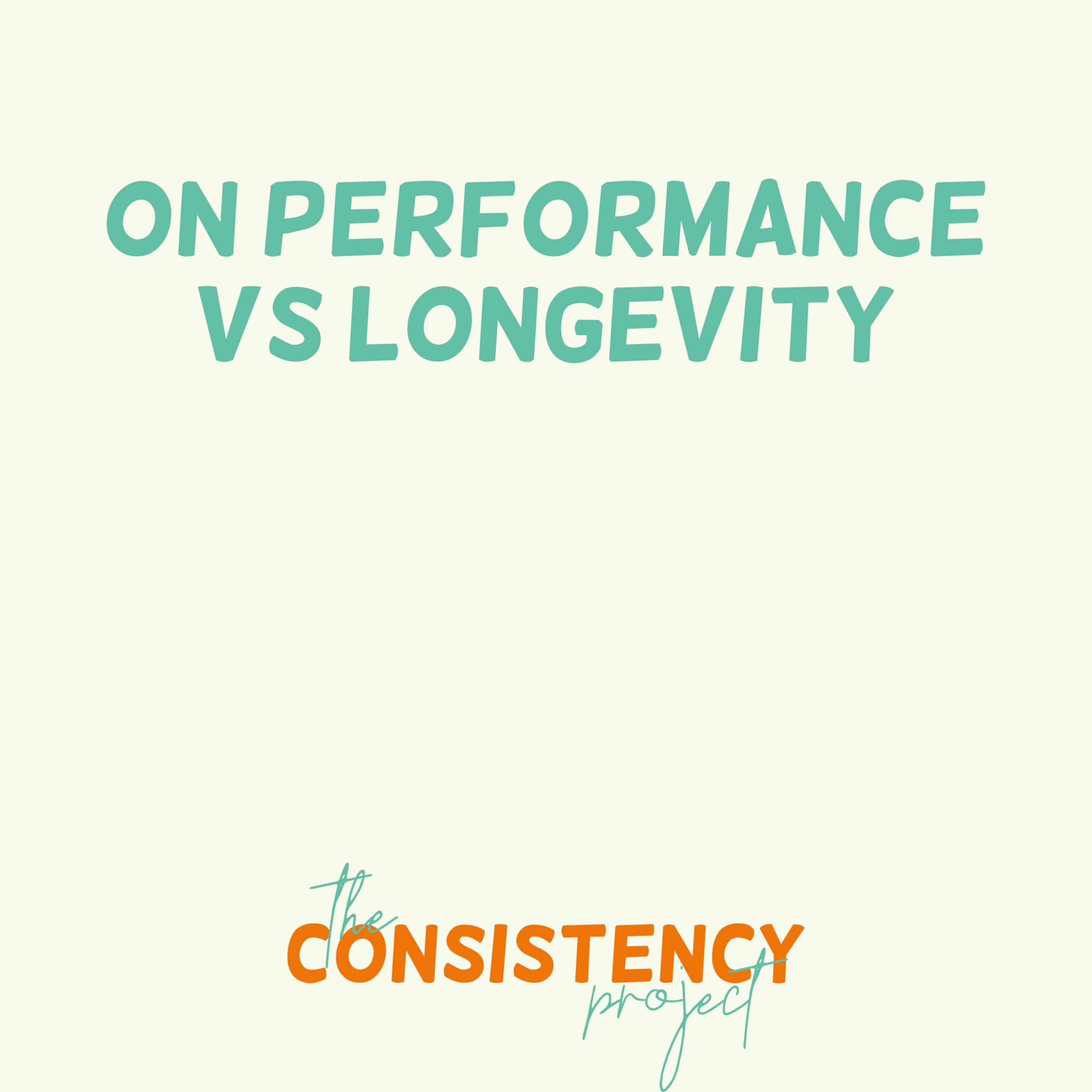 Episode 17: on Performance vs. Longevity