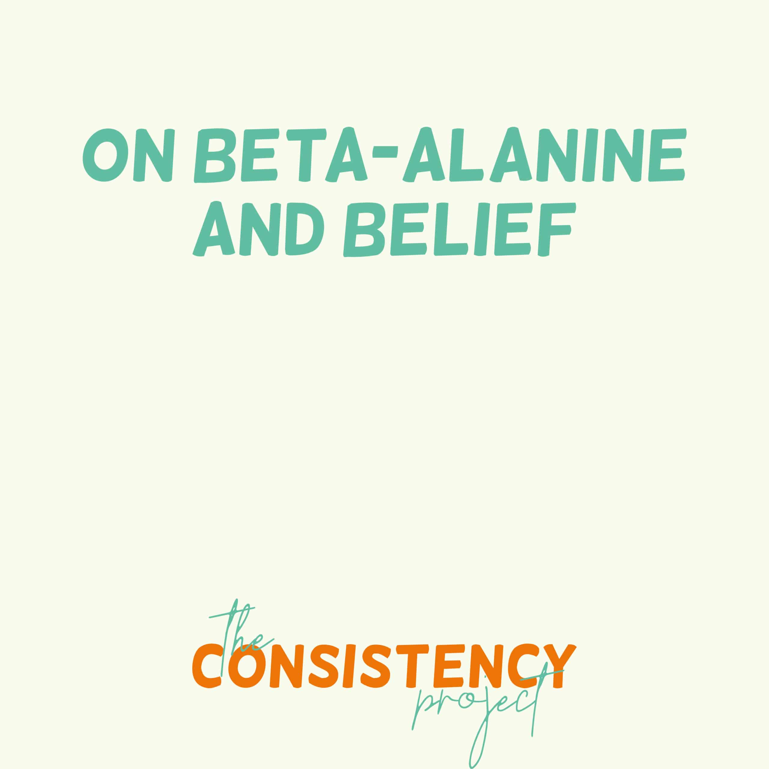 Episode 38: on Beta-Alanine and Belief